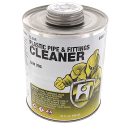 32 oz. Plastic Pipe and Fittings Cleaner (Clear) Product Image