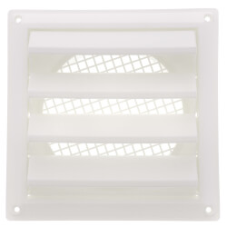 """6"""" Louvered Air Intake Vent (White) Product Image"""
