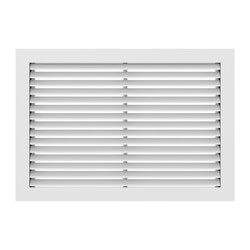 "10"" x 6"" (Wall Opening Size) Extruded Aluminum Return Grille (RH45 Series) Product Image"