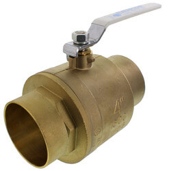 "4"" Full Port Sweat Ball Valve (Lead Free) Product Image"