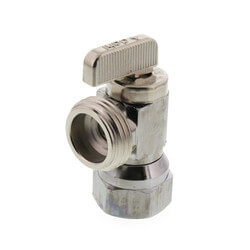 "1/2"" FIP x Hose Angle Hose & Boiler Drain, Lead Free (Chrome Plated) Product Image"