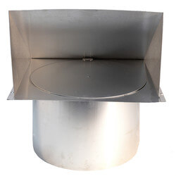 """12"""" Round Duct Wall Cap w/ Backdraft Damper Product Image"""