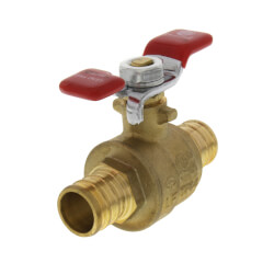 "3/4"" PEX x 3/4"" PEX Ball Valve, T-Handle (Lead Free) Product Image"