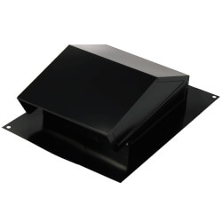"Steel Roof Cap for<br>6"" Round Ducting w/ Backdraft Damper (Black) Product Image"