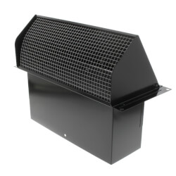 """Model 639 Steel Wall Cap for 3-1/4"""" x 10"""" Duct<br>Black Finish Product Image"""