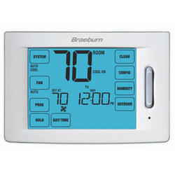 7 Day, 5-2 Day (4H/2C) Prog. Touchscreen Thermostat w/ Humidity Ctrl Product Image