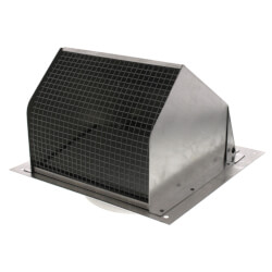 """Model 641 Aluminum<br>Wall Cap for 6"""" Round Duct Natural Finish Product Image"""