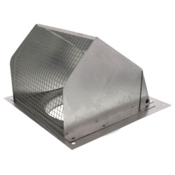 """6"""" Round Duct Aluminum Wall Cap, no Damper Product Image"""