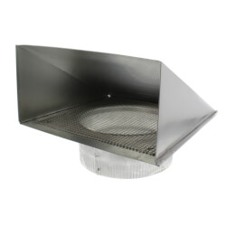 """8"""" Round Duct Aluminum Fresh Air Inlet Wall Cap Product Image"""
