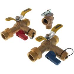 "3/4"" Push-Fit Isolator E-X-P E2 Tankless Water Heater Valve Kit w/ 150 PSI PRV (Lead Free) Product Image"