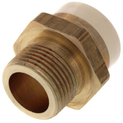 """3/4"""" CPVC × 3/4"""" MIP Brass Straight Adapter (Lead Free) Product Image"""