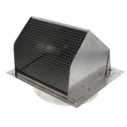 "7"" Round Duct Aluminum Wall Cap w/ Damper Product Image"