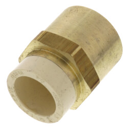 """1/2"""" CPVC × 1/2"""" FIP Brass Straight Adapter (Lead Free) Product Image"""