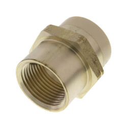 """3/4"""" CPVC × 3/4"""" FIP Brass Straight Adapter (Lead Free) Product Image"""