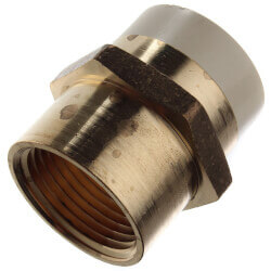 """1"""" CPVC × 1"""" FIP Brass Straight Adapter (Lead Free) Product Image"""