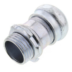 "1/2"" Steel EMT Compression Connector Product Image"