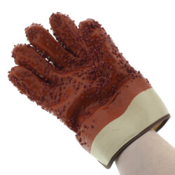 Red PVC Chip Sewer Gloves - One Size Fits Most (Pair) Product Image