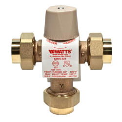 """1/2"""" LFMMVM1-UT Lead Free Mixing Valve (Copper Press) Product Image"""