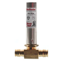 "1/2"" Expansion PEX Tee Mini-Rester Water Hammer Arrestor (Lead Free) Product Image"