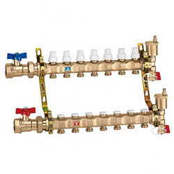 "1"" Manifold w/ Shut-Off Valves (13 Outlets) Product Image"