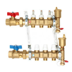 "1"" TwistFlow Manifold w/ Temp Gauge (3 Outlets) Product Image"