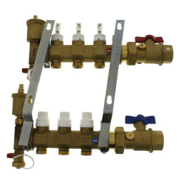 "1"" TwistFlow Inverted Manifold w/ Temp Gauge (3 Outlets) Product Image"