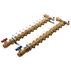 """1"""" Inverted TwistFlow Manifold w/ Temp Gauge (10 Outlets) Product Image"""