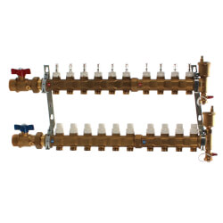 "1"" TwistFlow Manifold w/ Temp Gauge (10 Outlets) Product Image"