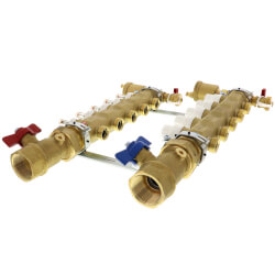 "1-1/4"" TwistFlow Manifold w/ Temp Gauge (5 Outlets) Product Image"