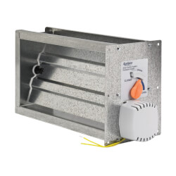 "8"" x 14"" Rectangular<br>Side Mounted Damper Product Image"