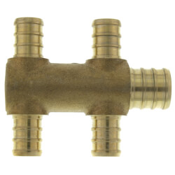 "PEX Crimp Multiport Tee (4) 1/2"" Branches (1) 3/4"" Trunk End Product Image"