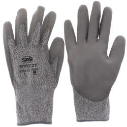 SafeCut HPPE Knit Glove w/ PVC Grip - L (Pair) Product Image