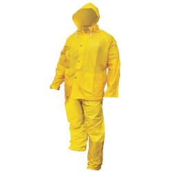 Heavy-Duty 3 Piece PVC/Poly Rain Suit - XL Product Image