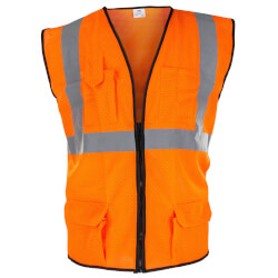 Class 2 Surveyor's Safety Vest - XL (Orange) Product Image