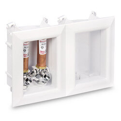 """1/2"""" PEX Crimp Washing Machine Outlet Box w/ Water Hammer Arrestor (Lead Free) Product Image"""