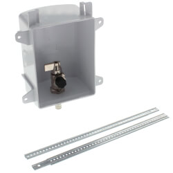"""Ox Box Ice Maker Outlet Box Rough-In Pack<br>No Lead (1/2"""" PEX Crimp) Product Image"""