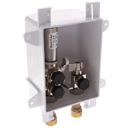 """1/2"""" Female Sweat Ox Box Kitchen Supply Outlet Box w/ MiniRester Water Hammer Arresters (Lead Free) Product Image"""