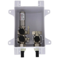 """1/2"""" PEX Crimp Ox Box Kitchen Supply Outlet Box w/ Dual MiniRester Water Hammer Arresters  Product Image"""