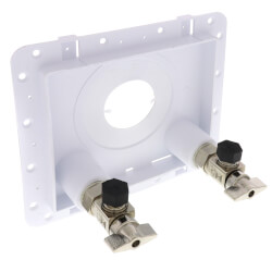 "OmniPanel Dual Valve Access Panel (1/2"" F1960 PEX Inlet and 3/8"" OD Compression Outlet) Product Image"