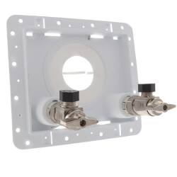 "1/2"" F1807 PEX Inlet x 3/8"" OD Compression Outlet OmniPanel Dual Valve Access Panel Product Image"