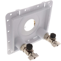"1/2"" F1960 PEX Inlet x 3/8"" OD Compression OmniPanel Dual Valve Access Panel w/ Water Hammer Arresters Product Image"