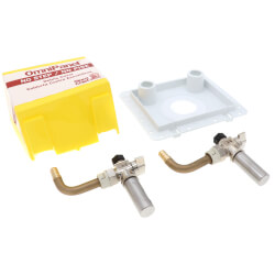 "1/2"" F1807 PEX Inlet x 3/8"" OD Compression OmniPanel Dual Valve Access Panel w/ Water Hammer Arresters Product Image"