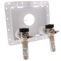 "1/2"" F1960 PEX Inlet x 3/4"" Male Hose Thread OmniPanel Dual Valve Access Panel w/ Water Hammer Arresters Product Image"