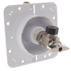 """1/2"""" F1960 PEX Inlet x 3/8"""" Compression OmegaPlate Single Valve Outlet Panel Product Image"""