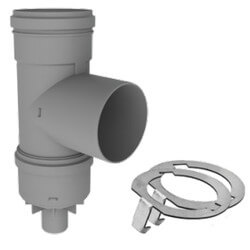 "6"" PolyPro Tee with<br>Drain Cap w/ LB2 Product Image"