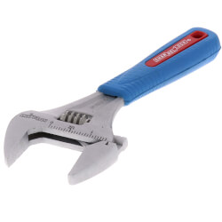 "6"" Code Blue Wide Jaw Adjustable Wrench Product Image"
