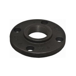 "6"" x 11"" Black Cast Iron Blind Flange, Class 125 Product Image"