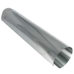 "5"" x 24"" Galvanized Snap-Lock Pipe - 30 Gauge Product Image"