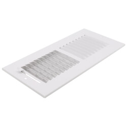 """10"""" x 4"""" (Wall Opening Size) White Two-Way Steel Sidewall/Ceiling Register (682M Series) Product Image"""