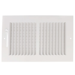 """10"""" x 6"""" (Wall Opening Size) White Two-Way Steel Sidewall/Ceiling Register (682M Series) Product Image"""